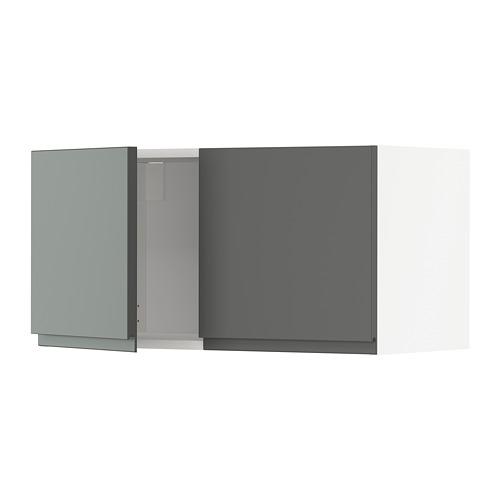 METOD - wall cabinet with 2 doors, white/Voxtorp dark grey   IKEA Hong Kong and Macau - PE749742_S4