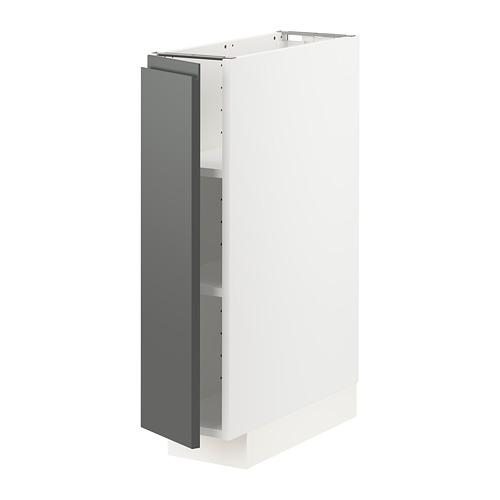 METOD - base cabinet with shelves, white/Voxtorp dark grey | IKEA Hong Kong and Macau - PE749766_S4