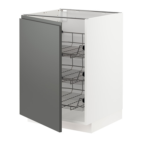 METOD - base cabinet with wire baskets, white/Voxtorp dark grey | IKEA Hong Kong and Macau - PE749774_S4