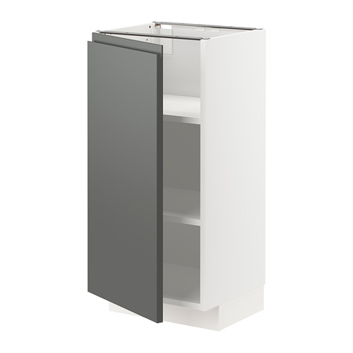 METOD - base cabinet with shelves, white/Voxtorp dark grey | IKEA Hong Kong and Macau - PE749777_S4