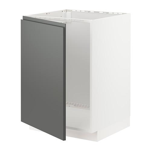 METOD - base cabinet for sink, white/Voxtorp dark grey | IKEA Hong Kong and Macau - PE749779_S4