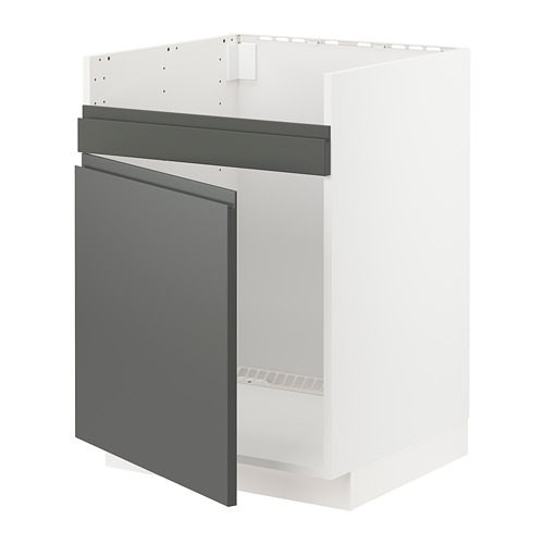 METOD - base cab f HAVSEN single bowl sink, white/Voxtorp dark grey | IKEA Hong Kong and Macau - PE749780_S4
