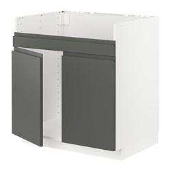 METOD - HAVSEN雙星盆底櫃, 白色/Voxtorp 深灰色 | IKEA 香港及澳門 - PE749781_S3