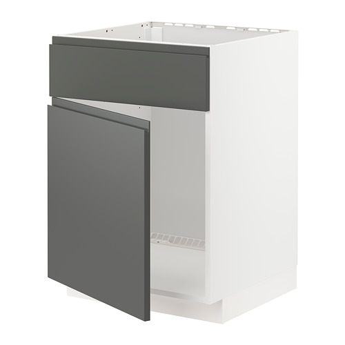 METOD - base cabinet f sink w door/front, white/Voxtorp dark grey | IKEA Hong Kong and Macau - PE749783_S4