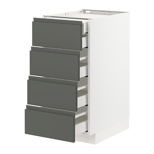 METOD/MAXIMERA - base cb 4 frnts/2 low/3 md drwrs, white/Voxtorp dark grey | IKEA Hong Kong and Macau - PE749787_S4