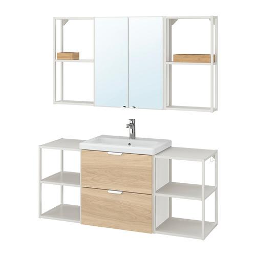 TVÄLLEN/ENHET - 浴室貯物組合 18件裝, oak effect/white Brogrund tap | IKEA 香港及澳門 - PE777535_S4