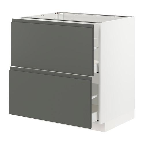 METOD/MAXIMERA - 廚櫃組合, 白色/Voxtorp 深灰色   IKEA 香港及澳門 - PE749791_S4