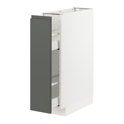 METOD/MAXIMERA - base cabinet/pull-out int fittings, white/Voxtorp dark grey | IKEA Hong Kong and Macau - PE749822_S4