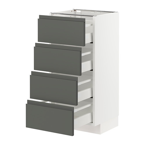 METOD/MAXIMERA - 地櫃連4面板/4抽屜, 白色/Voxtorp 深灰色 | IKEA 香港及澳門 - PE749797_S4