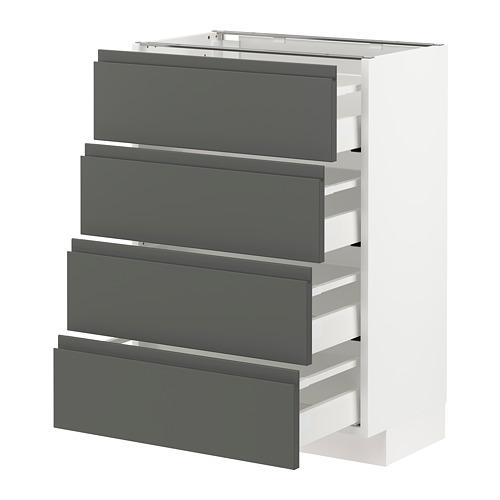 METOD/MAXIMERA - 地櫃連4面板/4抽屜, 白色/Voxtorp 深灰色 | IKEA 香港及澳門 - PE749798_S4