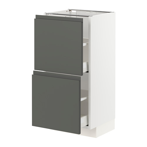 METOD/MAXIMERA - base cabinet with 2 drawers, white/Voxtorp dark grey | IKEA Hong Kong and Macau - PE749828_S4