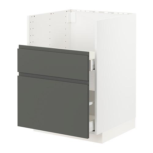 METOD/MAXIMERA - bc f BREDSJÖN sink/2 fronts/2 drws, white/Voxtorp dark grey | IKEA Hong Kong and Macau - PE749830_S4