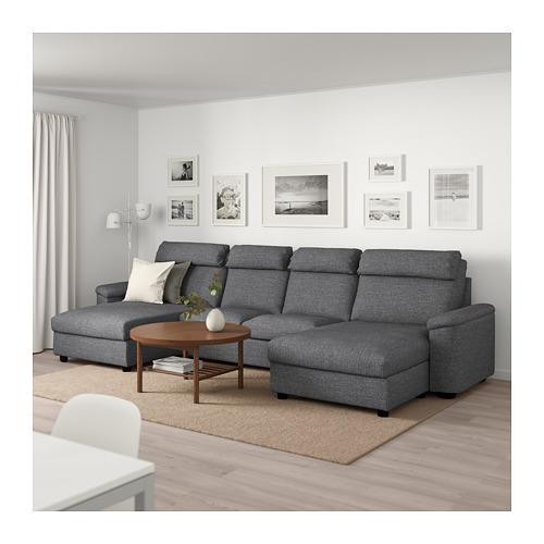 LIDHULT - 四座位梳化, 連躺椅/Lejde 灰色/黑色 | IKEA 香港及澳門 - PE710336_S4