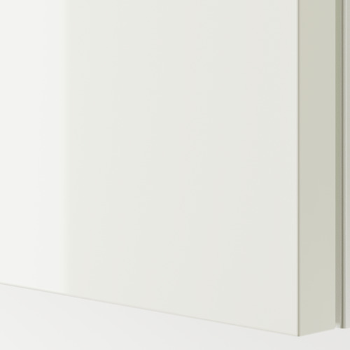 PAX - 衣櫃, 棕黑色/Hasvik 光面白色 | IKEA 香港及澳門 - PE749940_S4