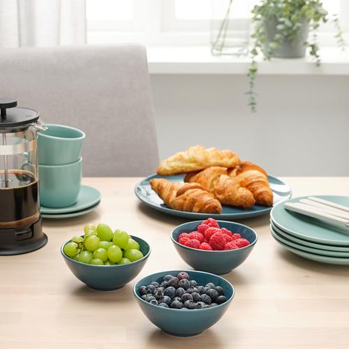 FÄRGKLAR - bowl, glossy dark turquoise, 12cm | IKEA Hong Kong and Macau - PE805421_S4