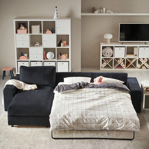 VIMLE - 三座位梳化連躺椅, with wide armrests/Saxemara black-blue | IKEA 香港及澳門 - PH182198_S4
