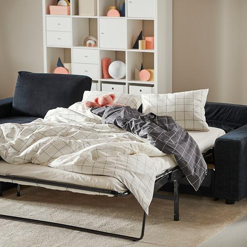 VIMLE - 三座位梳化連躺椅, with wide armrests/Saxemara black-blue | IKEA 香港及澳門 - PH182196_S4