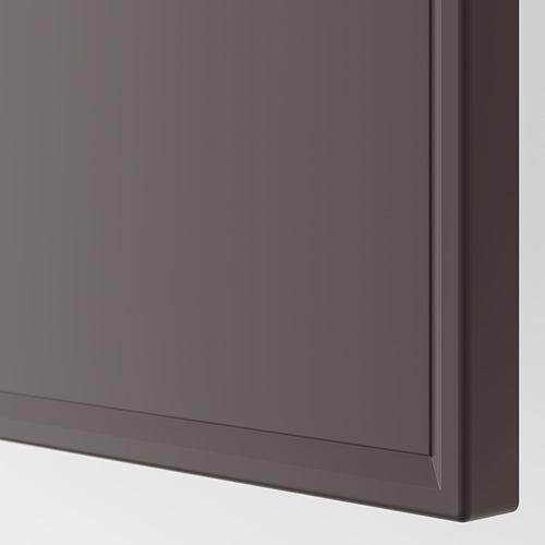 PAX - wardrobe, white stained oak effect/Meråker dark grey | IKEA Hong Kong and Macau - PE749979_S4