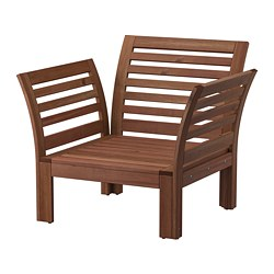 ÄPPLARÖ - 戶外扶手椅, 染褐色 | IKEA 香港及澳門 - PE805469_S3