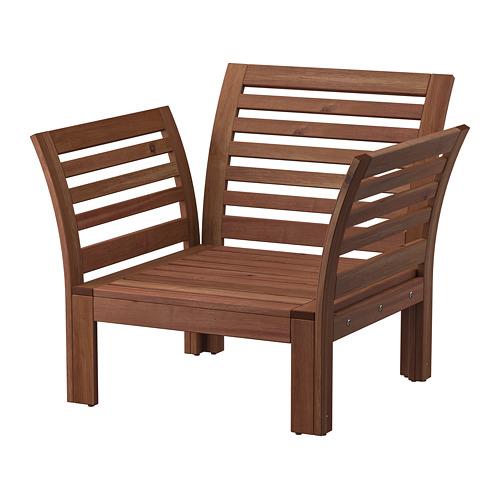 ÄPPLARÖ - armchair, outdoor, brown stained   IKEA Hong Kong and Macau - PE805469_S4