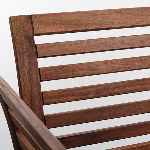 ÄPPLARÖ - armchair, outdoor, brown stained   IKEA Hong Kong and Macau - PE805471_S4