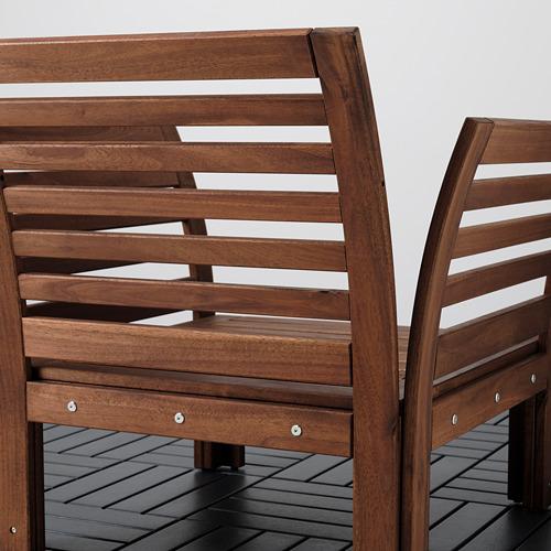 ÄPPLARÖ - armchair, outdoor, brown stained   IKEA Hong Kong and Macau - PE805470_S4