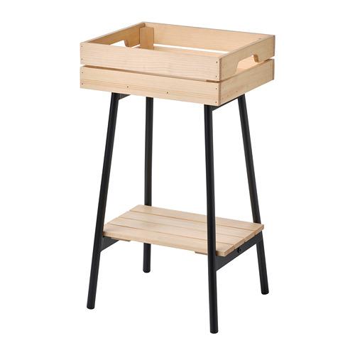 VANILJSTÅNG - plant stand, pine/black   IKEA Hong Kong and Macau - PE809504_S4
