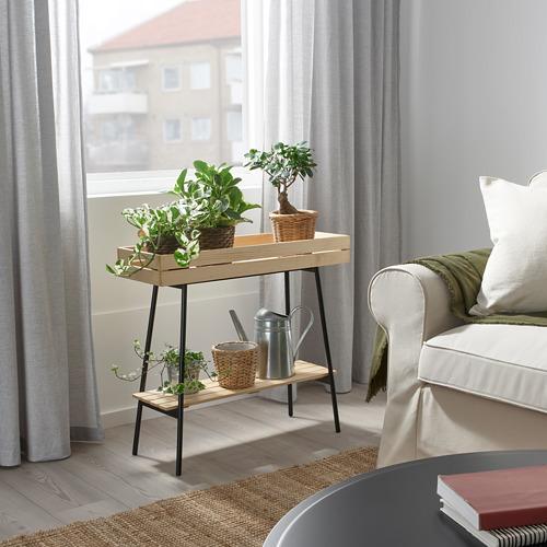 VANILJSTÅNG - 花盆架, 松木/黑色   IKEA 香港及澳門 - PE809508_S4