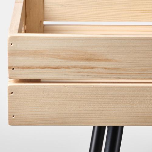 VANILJSTÅNG - 花盆架, 松木/黑色   IKEA 香港及澳門 - PE809509_S4