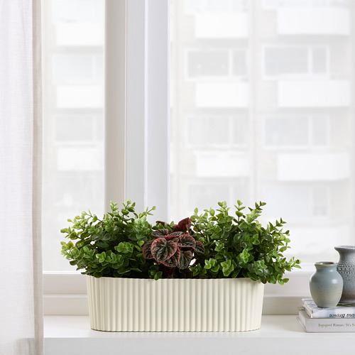 ÄPPELROS - plant pot, in/outdoor/off-white oval | IKEA Hong Kong and Macau - PE809517_S4