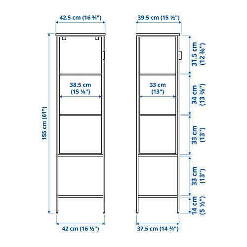 RUDSTA glass-door cabinet