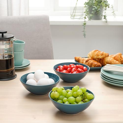 FÄRGKLAR - bowl, glossy dark turquoise, 19cm   IKEA Hong Kong and Macau - PE805524_S4