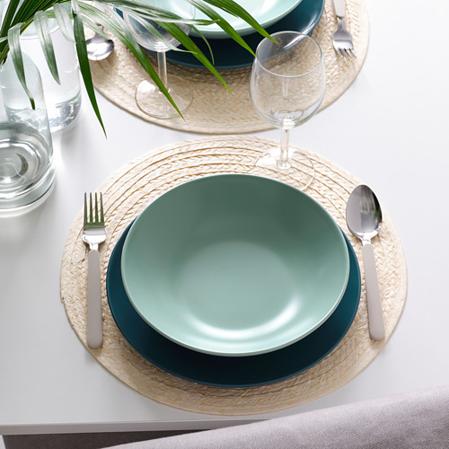 FÄRGKLAR - deep plate, matt light turquoise, 23cm | IKEA Hong Kong and Macau - PE805578_S4