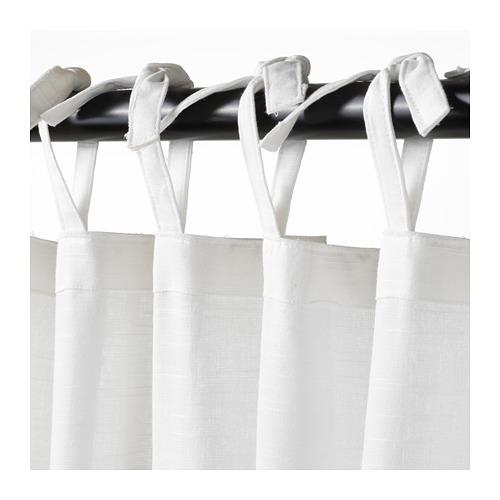 SÅNGLÄRKA - 窗簾連簾帶,一對, 蝴蝶/白色 藍色 | IKEA 香港及澳門 - PE710488_S4