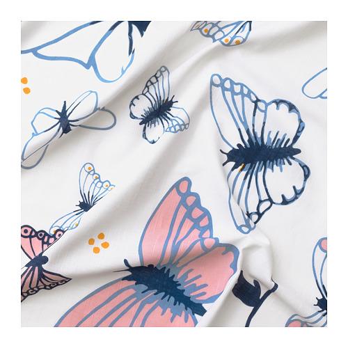 SÅNGLÄRKA - 窗簾連簾帶,一對, 蝴蝶/白色 藍色 | IKEA 香港及澳門 - PE710491_S4