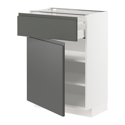 METOD/MAXIMERA - base cabinet with drawer/door, white/Voxtorp dark grey | IKEA Hong Kong and Macau - PE750195_S4