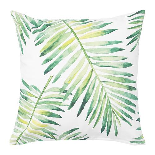 PRAKTMAL - cushion cover, white/leaf | IKEA Hong Kong and Macau - PE750263_S4