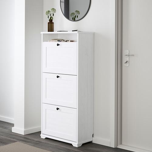 BRUSALI - 三格鞋櫃, 白色   IKEA 香港及澳門 - PE559942_S4