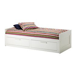 BRIMNES - day-bed w 2 drawers/2 mattresses, white/Malfors medium firm | IKEA Hong Kong and Macau - PE315614_S3