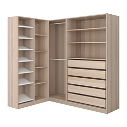 PAX - corner wardrobe, white stained oak effect | IKEA Hong Kong and Macau - PE661883_S3