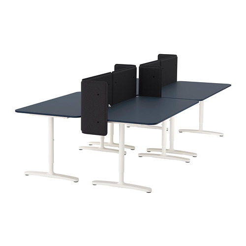 BEKANT desk with screen