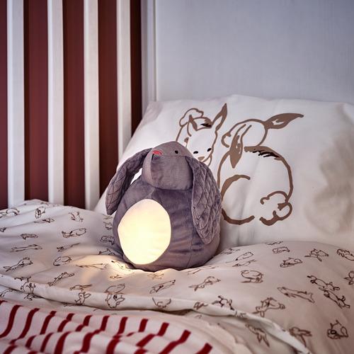 PEKHULT - 毛公仔連LED夜燈, grey rabbit/battery-operated | IKEA 香港及澳門 - PH172854_S4