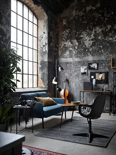 GLOSTAD - 2-seat sofa, Knisa medium blue   IKEA Hong Kong and Macau - PH179219_S4