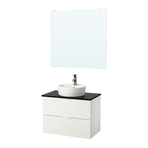 GODMORGON/TOLKEN/TÖRNVIKEN - bathroom furniture, set of 5, white/anthracite Dalskär tap | IKEA Hong Kong and Macau - PE750468_S4