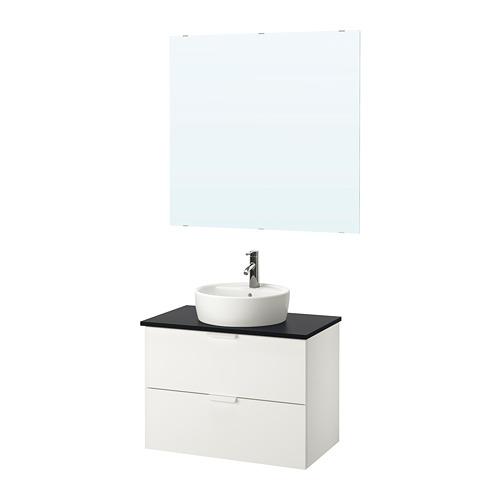 GODMORGON/TOLKEN/TÖRNVIKEN bathroom furniture, set of 5