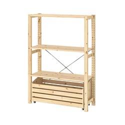 IVAR - shelving unit with storage box, pine | IKEA 香港及澳門 - PE806109_S3