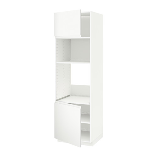 METOD - hi cb f oven/micro w 2 drs/shelves, white/Voxtorp matt white | IKEA Hong Kong and Macau - PE543736_S4