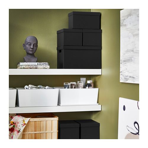 TJENA - storage box with lid, black | IKEA Hong Kong and Macau - PE710908_S4