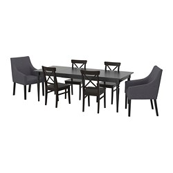 INGATORP/INGOLF - table and 6 chairs, black/Sporda dark grey | IKEA Hong Kong and Macau - PE710930_S3