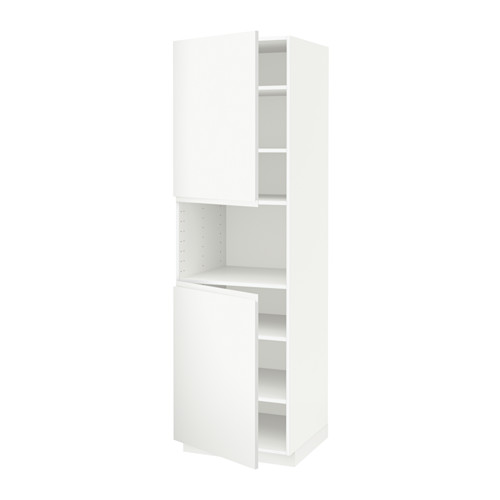 METOD - high cab f micro w 2 doors/shelves, white/Voxtorp matt white | IKEA 香港及澳門 - PE543762_S4